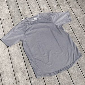 ☀️ Gray Jersey Material Nike T-Shirt